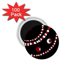Red pearls 1.75  Magnets (100 pack)