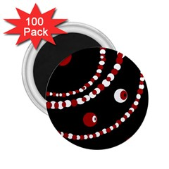 Red pearls 2.25  Magnets (100 pack)