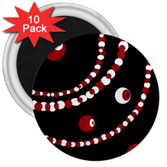 Red pearls 3  Magnets (10 pack)