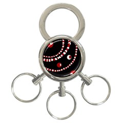 Red pearls 3-Ring Key Chains