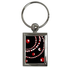 Red pearls Key Chains (Rectangle)