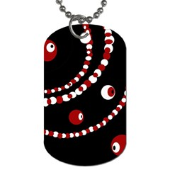 Red pearls Dog Tag (Two Sides)