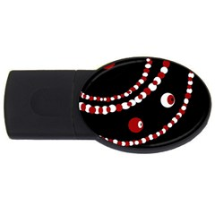 Red pearls USB Flash Drive Oval (1 GB)