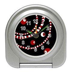 Red pearls Travel Alarm Clocks