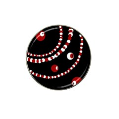 Red pearls Hat Clip Ball Marker