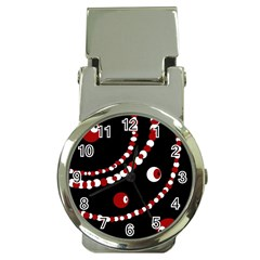 Red pearls Money Clip Watches
