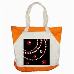 Red pearls Accent Tote Bag