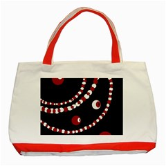 Red pearls Classic Tote Bag (Red)