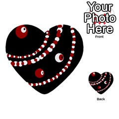 Red pearls Multi-purpose Cards (Heart)