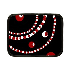 Red pearls Netbook Case (Small)