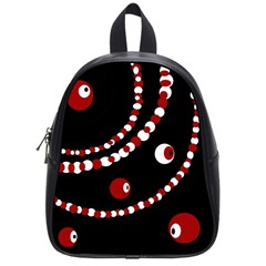Red pearls School Bags (Small)
