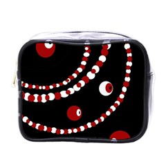 Red pearls Mini Toiletries Bags