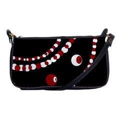 Red pearls Shoulder Clutch Bags