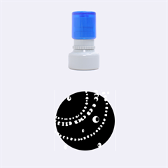 Red pearls Rubber Round Stamps (Small)