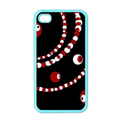 Red pearls Apple iPhone 4 Case (Color)