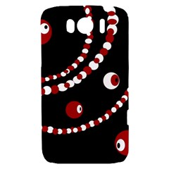 Red pearls HTC Sensation XL Hardshell Case