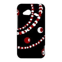 Red pearls HTC Droid Incredible 4G LTE Hardshell Case