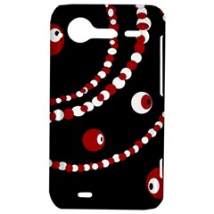 Red pearls HTC Incredible S Hardshell Case
