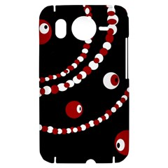 Red pearls HTC Desire HD Hardshell Case