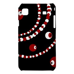 Red pearls Samsung Galaxy S i9008 Hardshell Case