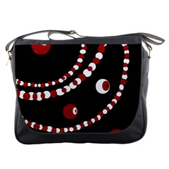 Red pearls Messenger Bags