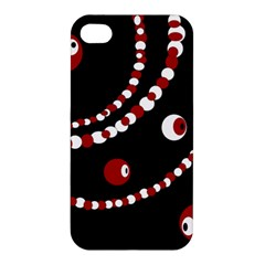 Red pearls Apple iPhone 4/4S Premium Hardshell Case