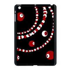 Red pearls Apple iPad Mini Case (Black)