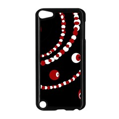 Red pearls Apple iPod Touch 5 Case (Black)