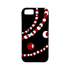 Red pearls Apple iPhone 5 Classic Hardshell Case (PC+Silicone)