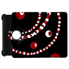 Red pearls Kindle Fire HD Flip 360 Case