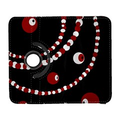 Red pearls Samsung Galaxy S  III Flip 360 Case