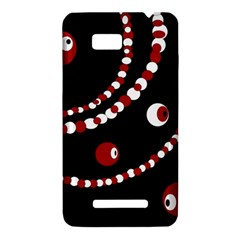 Red pearls HTC One SU T528W Hardshell Case