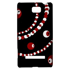 Red pearls HTC 8S Hardshell Case