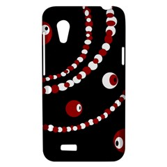 Red pearls HTC Desire VT (T328T) Hardshell Case