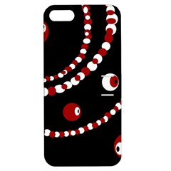 Red pearls Apple iPhone 5 Hardshell Case with Stand