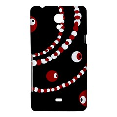 Red pearls Sony Xperia T