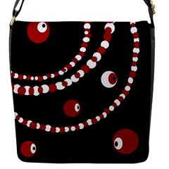 Red pearls Flap Messenger Bag (S)