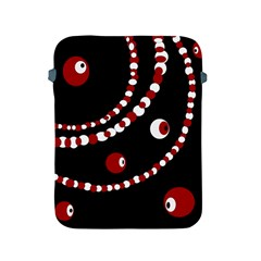 Red pearls Apple iPad 2/3/4 Protective Soft Cases