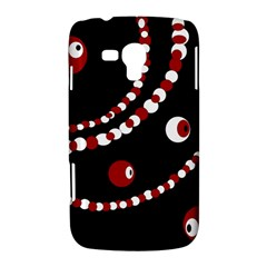 Red pearls Samsung Galaxy Duos I8262 Hardshell Case