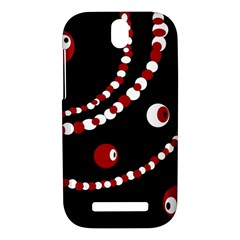 Red pearls HTC One SV Hardshell Case