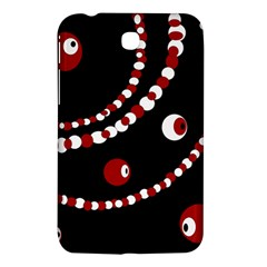 Red pearls Samsung Galaxy Tab 3 (7 ) P3200 Hardshell Case
