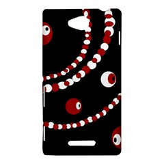 Red pearls Sony Xperia C (S39H)