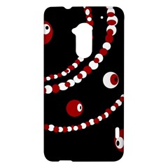 Red pearls HTC One Max (T6) Hardshell Case