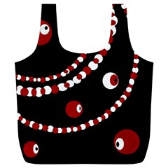 Red pearls Full Print Recycle Bags (L)