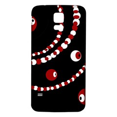 Red pearls Samsung Galaxy S5 Back Case (White)