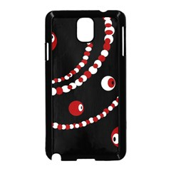 Red pearls Samsung Galaxy Note 3 Neo Hardshell Case (Black)
