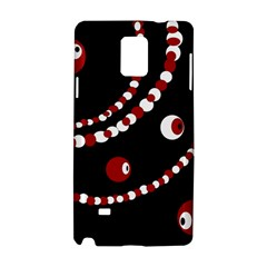 Red pearls Samsung Galaxy Note 4 Hardshell Case