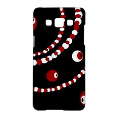 Red pearls Samsung Galaxy A5 Hardshell Case