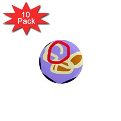 Abstract circle 1  Mini Magnet (10 pack)