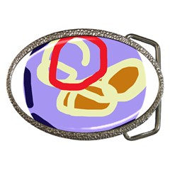 Abstract circle Belt Buckles
